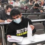 Imagen del primer examen de la EBAU de 2020, celebrado el 1 de julio
