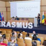 Imagen de archivo de la recepción del alumnado Erasmus en octubre de 2019.