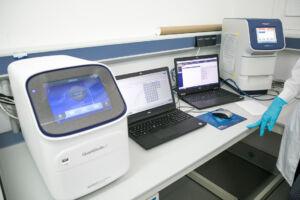 Parte del equipo utilizado para realizar las PCR.