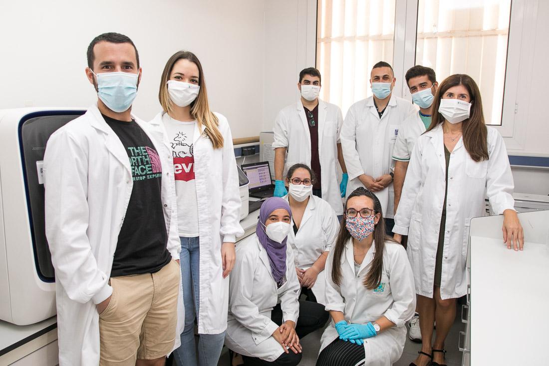 Parte del personal del Instituto de Enfermedades Tropicales y Salud Pública de Canarias responsable de realizar los tests.