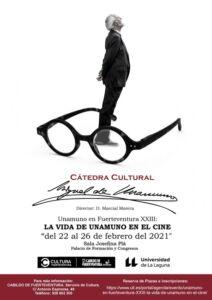 Cartel de este curso de la Cátedra Miguel de Unamuno