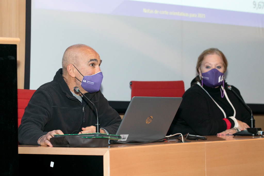 Imagen de archivo del encuentro con orientadores de Secundaria celebrado en diciembre de 2020,