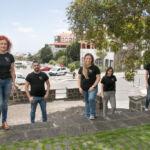 "Grupo ""Nunca solos"", de izquierda a derecha: Begoña Sánchez, Eduardo García, Marta Rodríguez, Jenifer Álvarez y Gara Hernández."