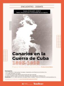 """Cartel del documental """"Canarios en la Guerra de Cuba"""""""
