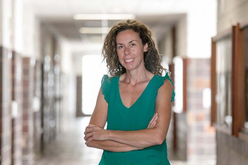 La investigadora Patricia Arranz durante una reciente visita a la Facultad de ciencias de la ULL.
