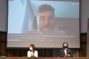 En pantalla Sebastián Bruque.