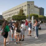 estudiantes en el Campus de Guajara