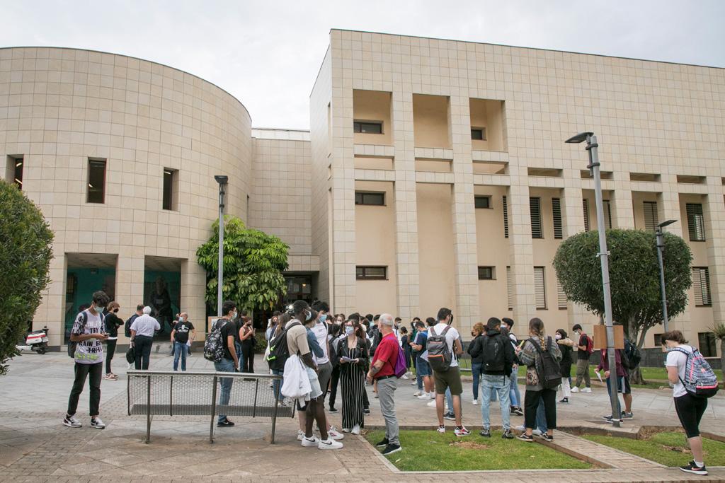 Imagen de la EBAU de junio de 2021 en el Campus de Guajara.