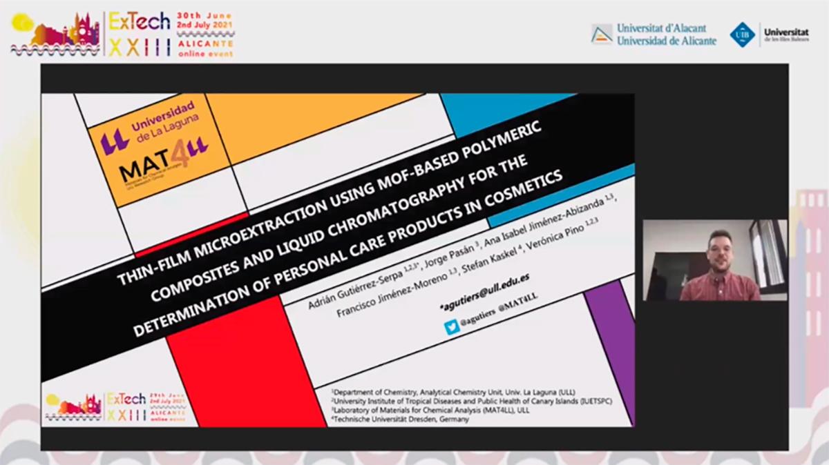 Imagen de la presentación online de Adrián Gutiérrez Serpa.