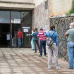 Imagen del punto de vacunación en el Campus de Guajara el día de su apertura, el pasado mes de abril.