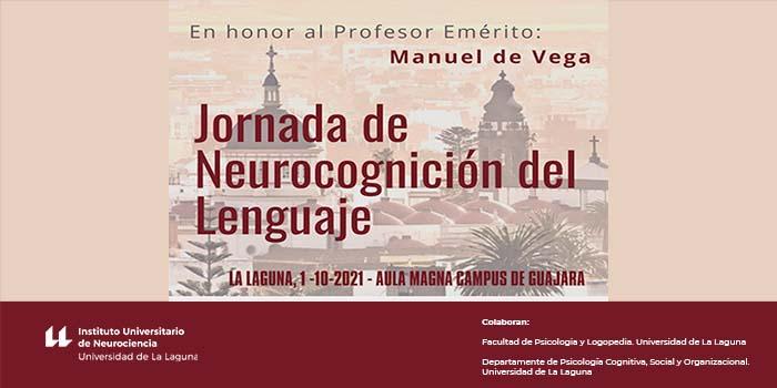 Cartel de la jornada en homenaje a Manuel de Vega.