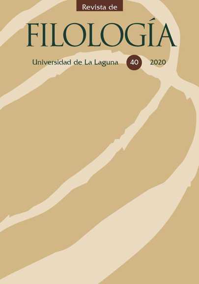 Portada Revista de Filología nº 40