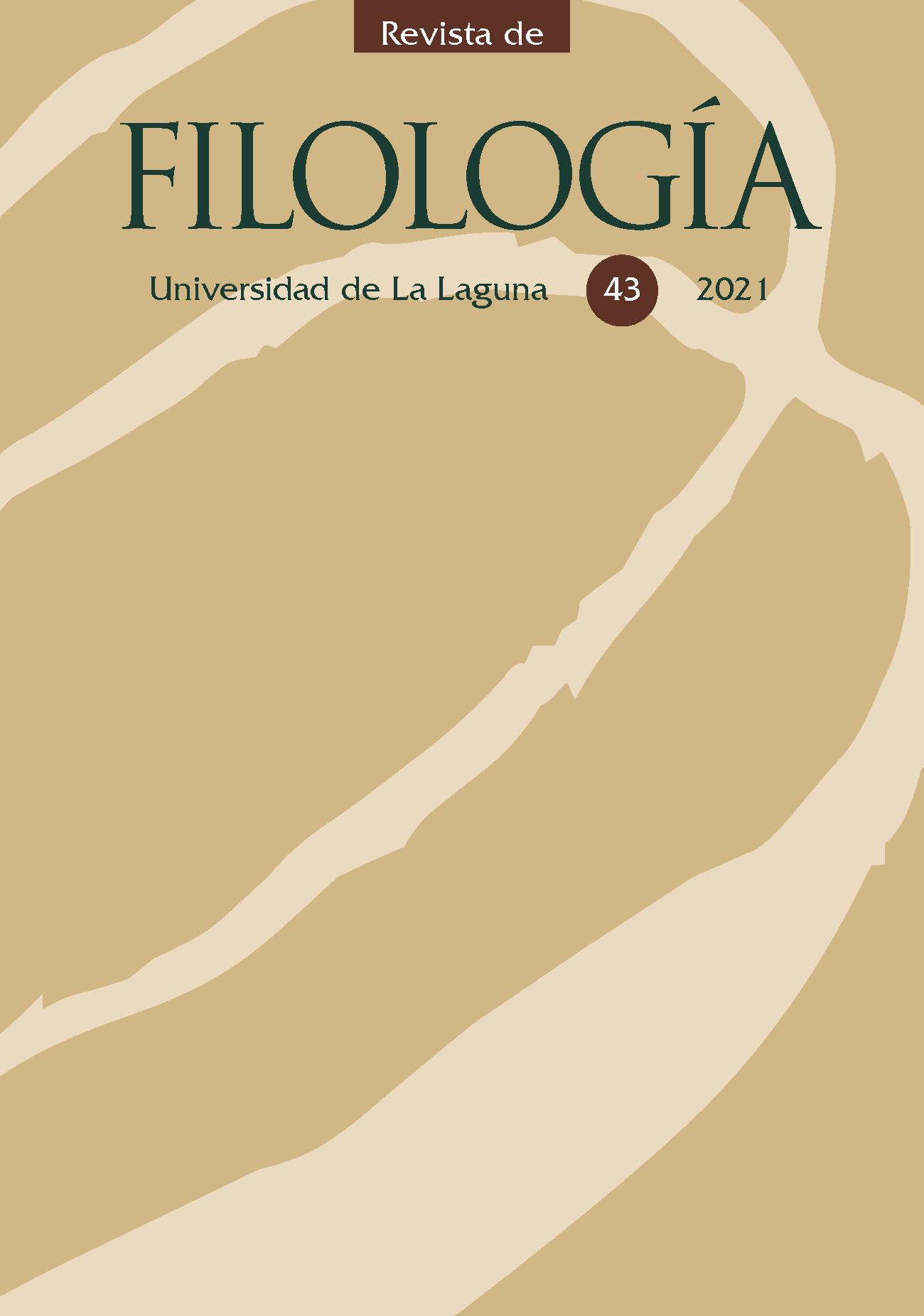 Portada de Revista de Filología, nº 43